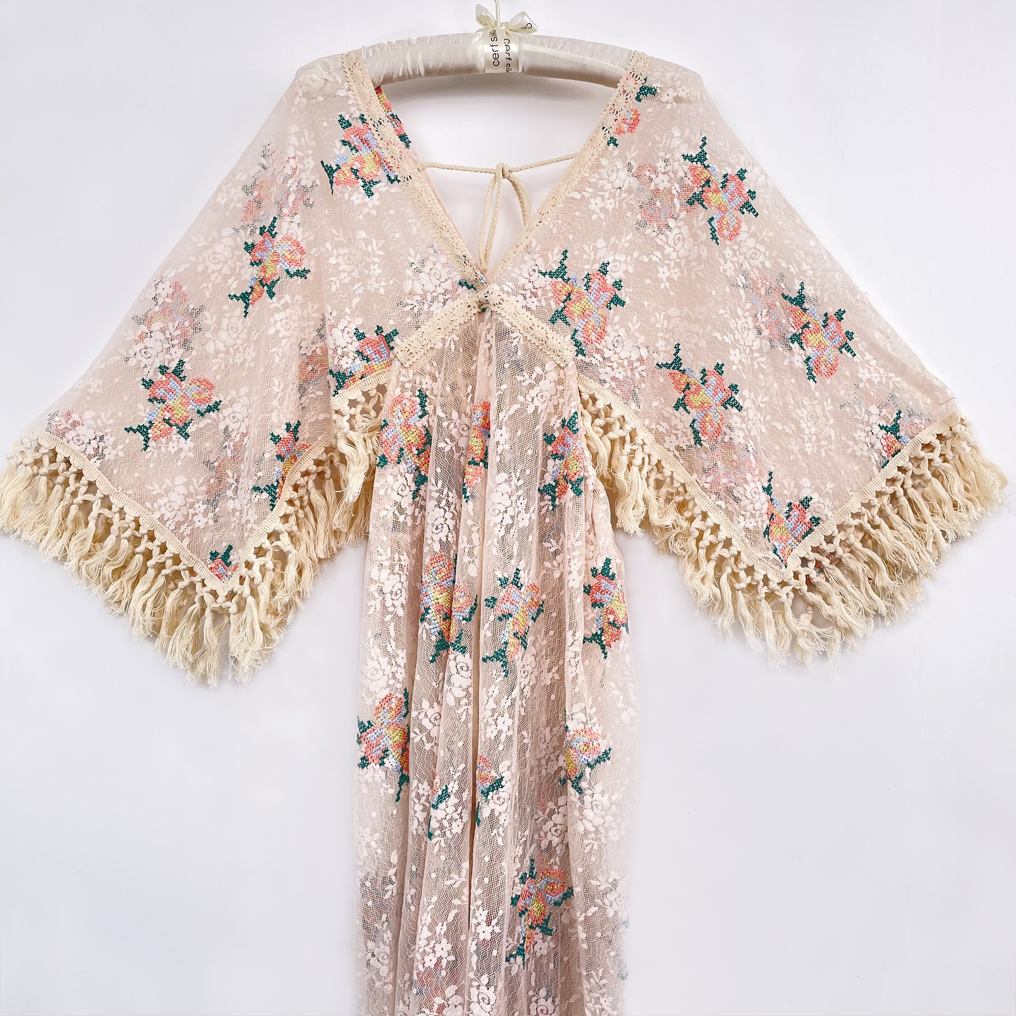 A Set Boho Lace Photo Shoot Maternity Mom and Girl Dresses with Tassels Evening Party Costume for Photography Accessories enlarge