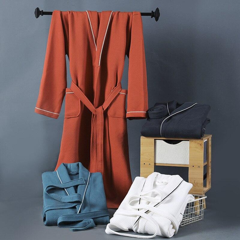 النساء الرجال القطن روب حمام Terry ملابس خاصة فضفاضة رداء غير رسمي ثوب النوم الخريف الشتاء طويلة الأكمام ملابس نوم المنزل الملابس الداخلية