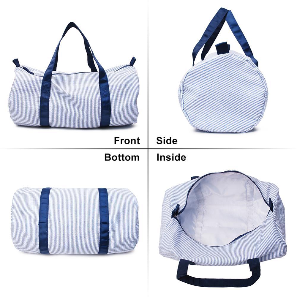 Seersucker Weekender Bag Kids Duffle Totes DOM1071494 Seersucker Travel Bag