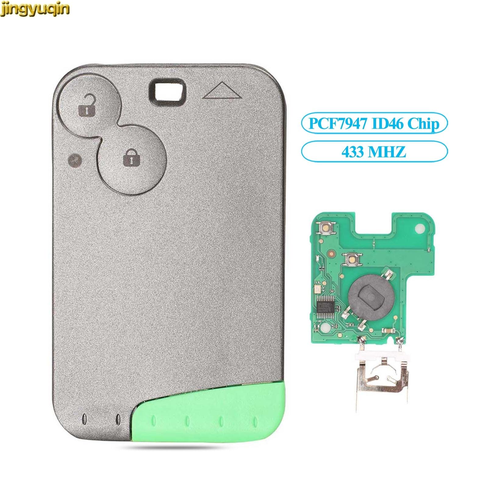 Jingyuqin смарт-карта ключ управления PCF7947 ID46 чип 433 МГц подходит для Renault Лагуна Espace 2001-2006 автомобильный пульт дистанционного управления без ключа