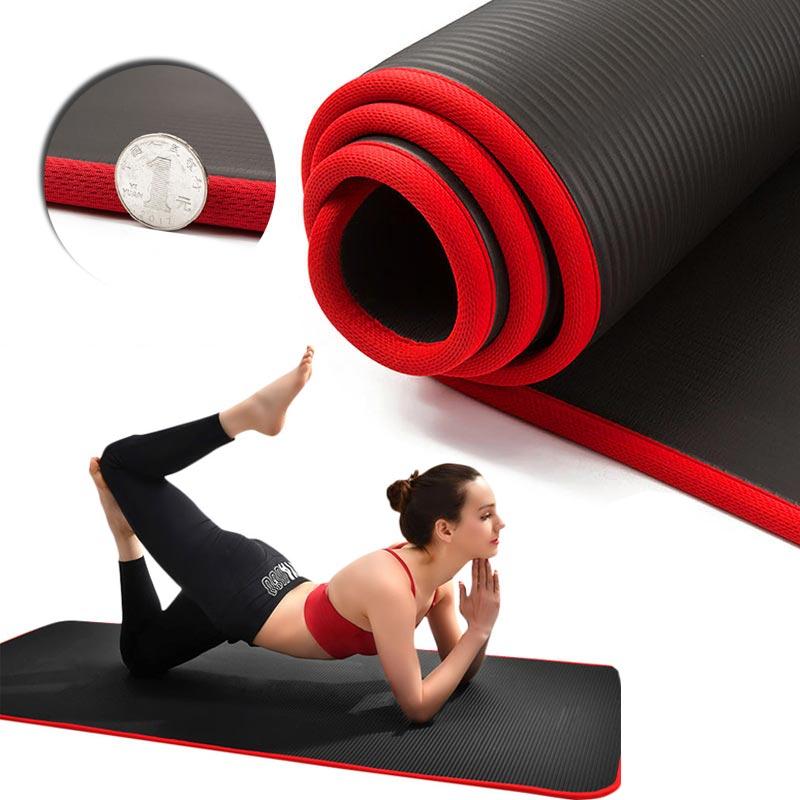 10 мм Экстра толстые 183cmX61cm коврики для йоги NRB нескользящие спортивные фитнес для мужчин женщин и мужчин безвкусный Пилатес гимнастический коврик для йоги сумка с повязками|Коврики для йоги| | АлиЭкспресс