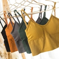 women crop tops seamless u shaped back sling female tank camis sexy lingerie intimates padded camisole femme sports ladies vest