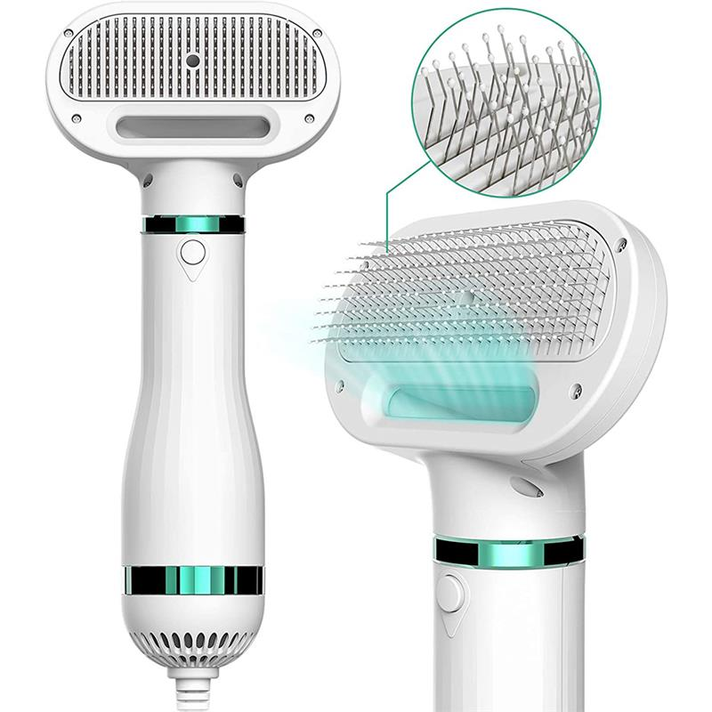 2 In 1 Hair Dryer And Comb Brush For Pet Dog Cat Grooming Blower Warm Wind Secador Fast Low Noise For Small Medium Large Dog