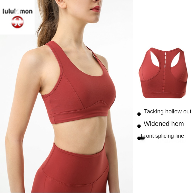 Lululemon-Sujetador de yoga a prueba de golpes para mujer, ropa interior deportiva,...