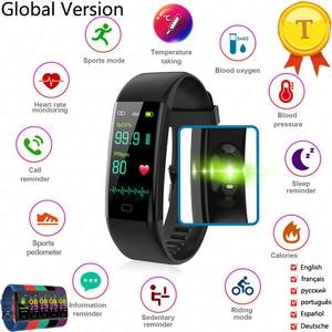Fitness Bracelet Body Thermometer IP67 Waterproof Smart Bracelet Fitness Tracker Heart Rate Monitor Smart Band Watch Men Women