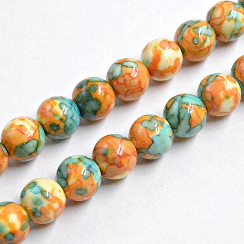 "Pedra natural tridacna amarelo arco-íris seixos redondos grânulos 15 ""4-12mm charme grânulos para fazer jóias charme pulseira presente"