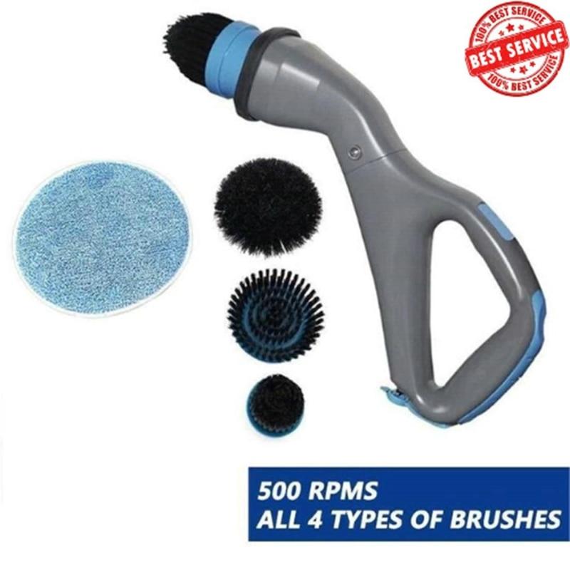 Cepillo eléctrico de limpieza de fregadero de músculo, limpiador de baño recargable inalámbrico, 4 en 1, utensilios de limpieza para el hogar, cepillo de azulejos