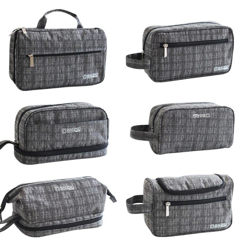 Дорожная сумка для туалетных принадлежностей для мужчин, серая деловая косметичка для мужчин, Повседневная косметичка для ванной и душа, су...