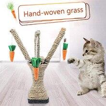 Arbre à gratter en tissu Sisal pour chat   Cadre descalade pour chat, bricolage, jouets interactifs dentraînement, animal de compagnie, arbre à gratter avec carottes