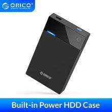ORICO 3.5 Cal obudowa HDD wbudowana moc 12V przenośna obudowa dysku twardego SATA na USB 3.0 obsługa 12TB HDD UASP na PC TV PS4