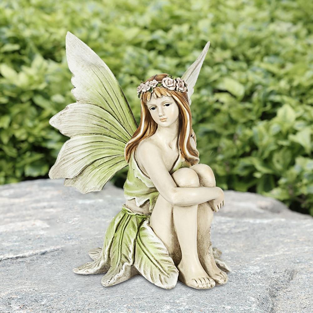 الراتنج الجنية تمثال فتاة المشهد تمثال للهدايا الخارجية في الهواء الطلق فيلا ساحة ملحق الجنية حديقة الديكور الحرف الزينة