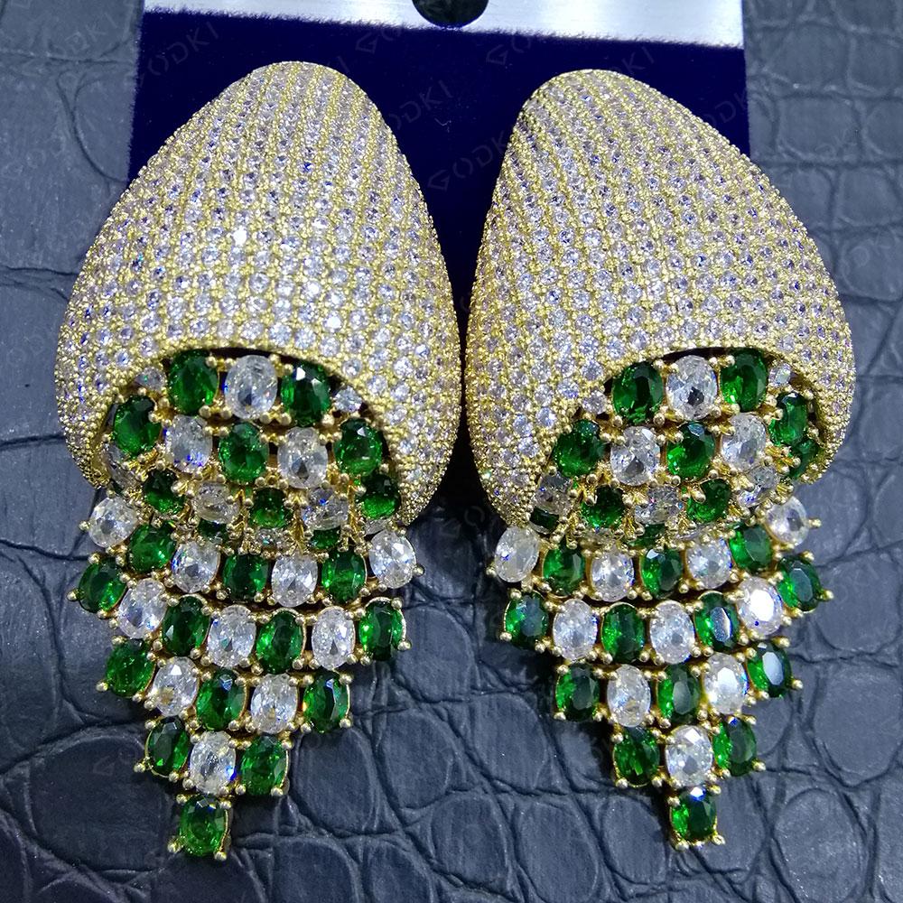 GODKI pendientes de borlas de serpiente de moda para mujer pendientes bohemios pendiente de gota geométrica 2020 Brincos joyería de moda DIY para mujer