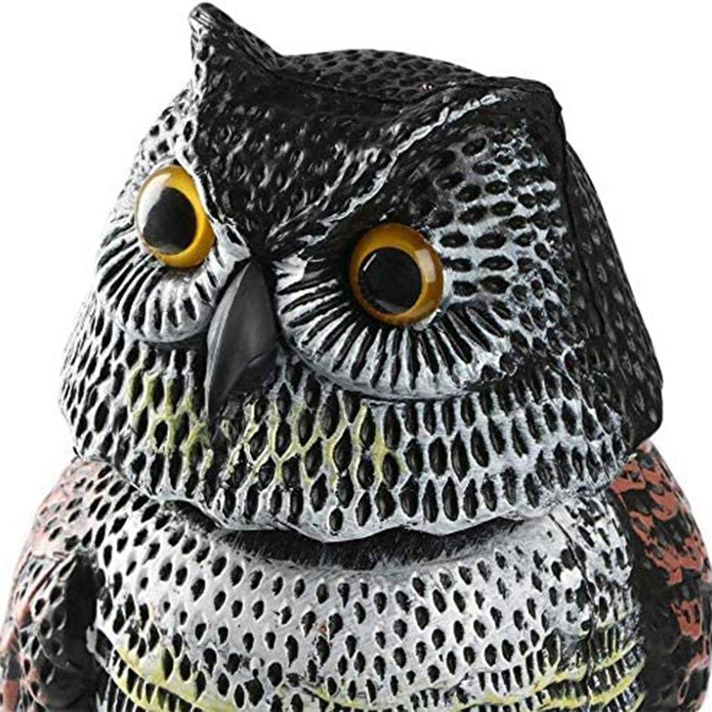 Cute Rotating Head Owl Bird Repellent Bird Pest Control Scarecrow Garden Courtyard Decoration Adornment Simulation