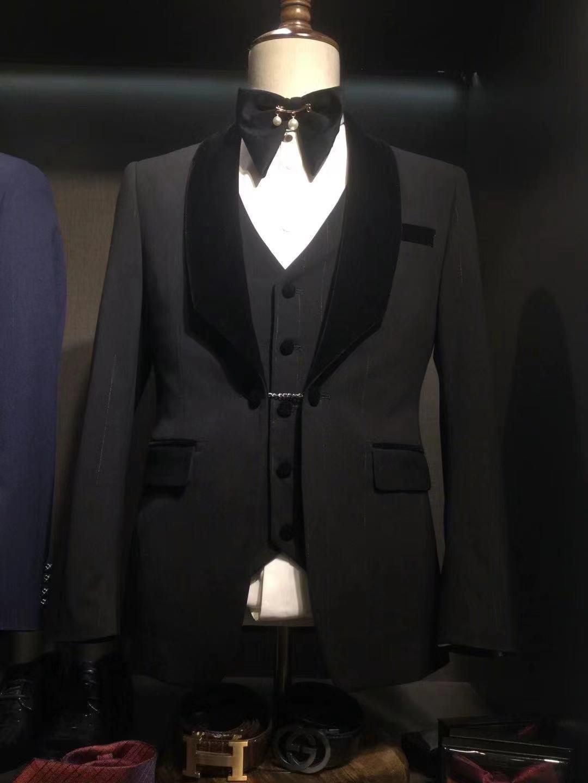 2021 أحدث تصميم التدرج شريط أسود بدل زفاف للرجال سليم صالح العريس بدلة طويلة رجل سترة فريدة من نوعها بانت سترة