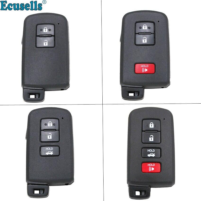 Nouveauté boîtier de rechange 2/3/4 boutons   Coque de clé intelligente pour Toyota Avalon Camry RAV4 2012-2015 avec clé inser