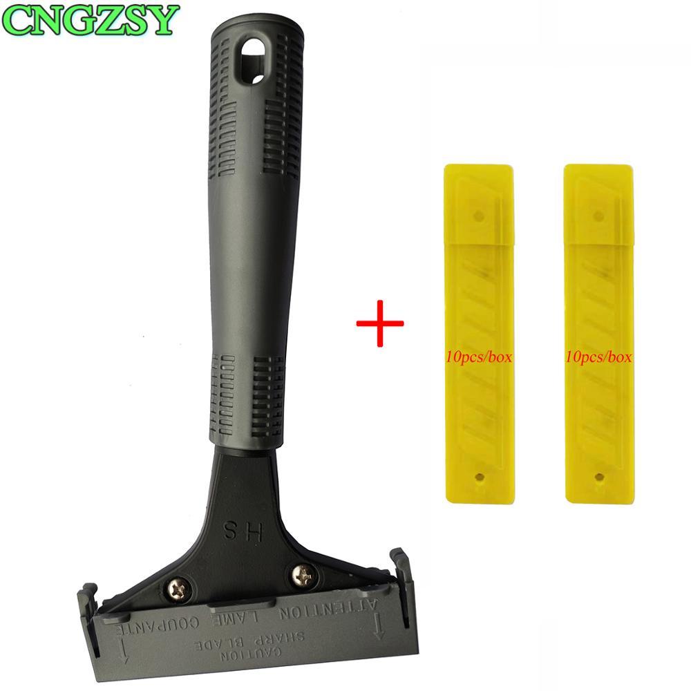 Heavy Duty Floor Putty Knife 20PCS Blade Drywall Scraper For Wall Ceramic Tile Corner Shovel Seamer Glue Tape Clean Tool E29+20M