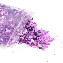 1 Pcs Holographic Glitter Eye Shadow Slices Sparkly Hexagon Nail Sequins Paillette Mixed Colors Span