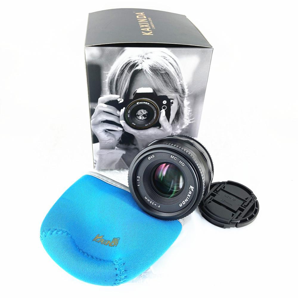 Kaxinda 35 мм f/1,2 руководство Prime E крепление объектива для Sony Emount a5000 a5100 a6000 a6100 a6300 a6400 a6500 a6600 A7 камера 35 F1.2