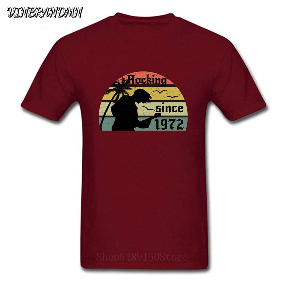 Camisetas mecedora desde 1972 T camisa de los hombres es rocker camiseta...