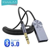KUULAA Aux Bluetooth адаптер кабель программный ключ для автомобиля 3,5 мм Jack Aux Bluetooth 5,0 приемник Динамик аудио Музыка Беспроводной передатчик
