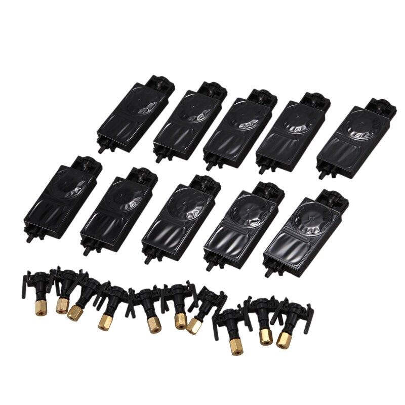 10PCS DX5 UV Ink Damper para Mimaki JV33 JV5 TX800 CJV150 para Epson Eco Solvente Plotter Impressora De Tinta Dumper conector sagacidade