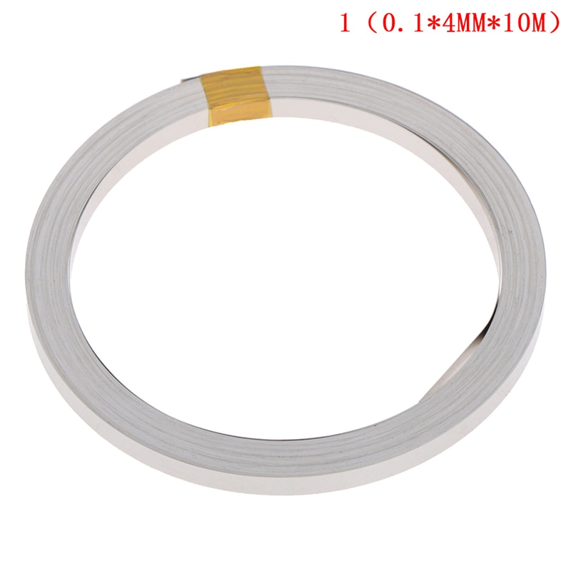 2m 0 2 10mm ni plate nickel strip tape for li 26650 battery spot welding the connecting piece of battery the battery pole ear 10M 4mmx0.1mm Ni Plate Nickel Strip Tape For Li 18650 26650 Battery Spot Welding new