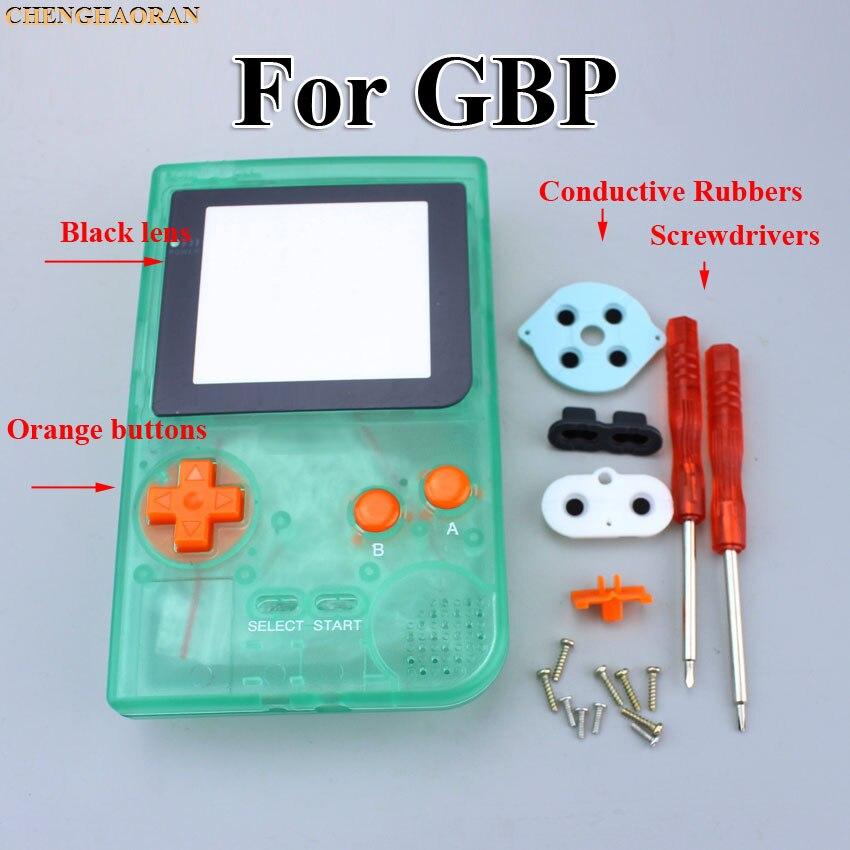 1 комплект светящийся зеленый полный корпус чехол для Gameboy Карманная игровая консоль отвертка резиновый Серебряный объектив синий кнопочный комплект