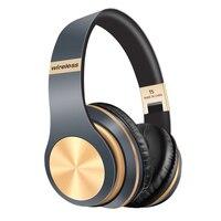 Bluetooth наушники 5,0, 3D стерео беспроводные наушники с микрофоном, складная гарнитура, беспроводные наушники с поддержкой TF-карт