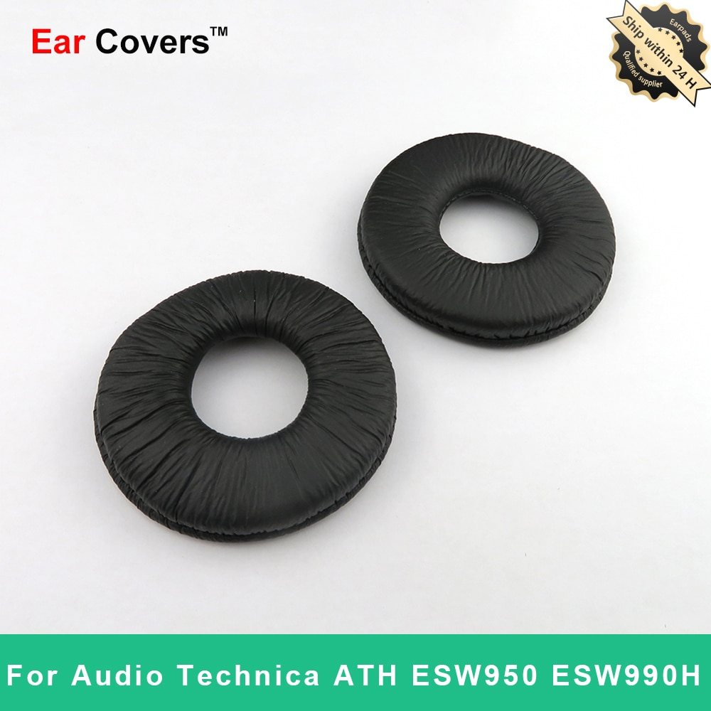 Earpads ForAudio Technica ATH ESW990H ESW950 Headphone Earpad Replacement Headset Ear Pads PU Leathe