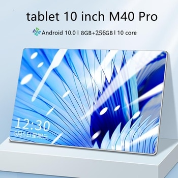 M40 Pro tablet 10 inch android tablet pc 8GB + 256GB tablette android 10 core tablette Android 10.0 Game Tablet