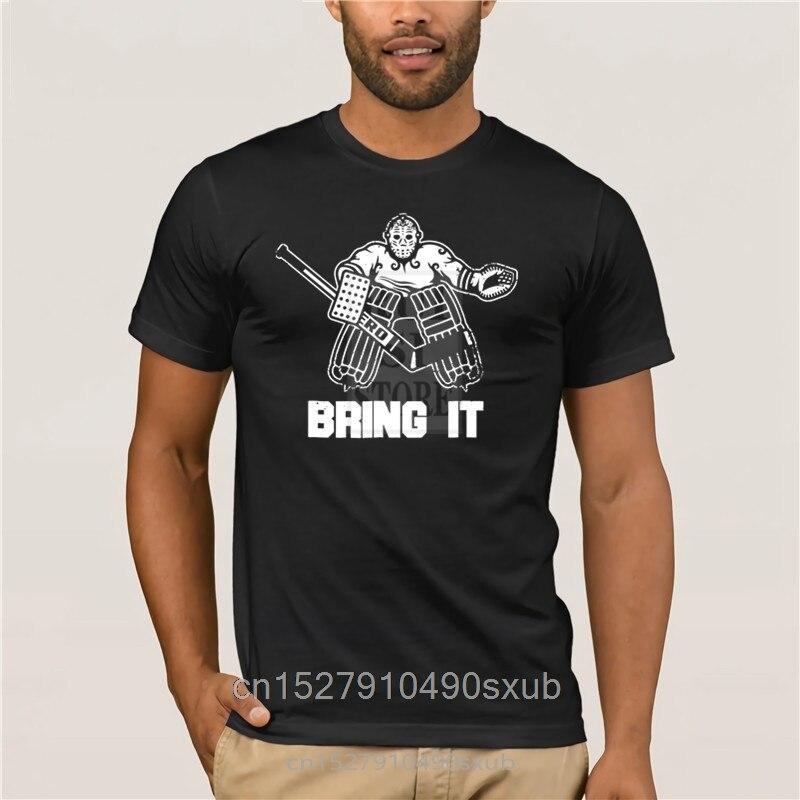 Camiseta blanca de manga corta para hombre, divertida camiseta de Hockey sobre hielo, regalo de portero, ropa gráfica, camiseta guay de manga corta para hombre