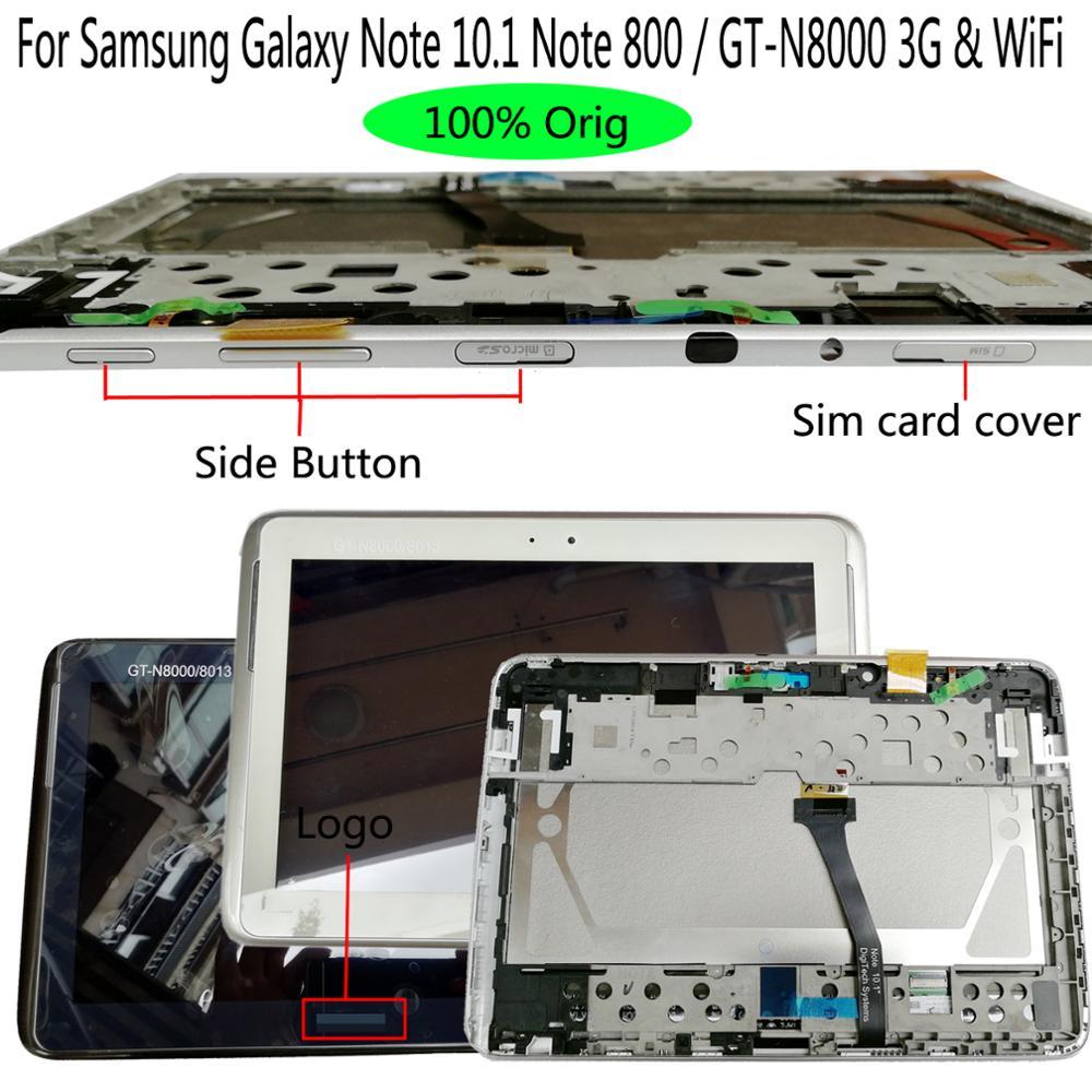 Shyueda الأصلي لسامسونج غالاكسي نوت 10.1 ملاحظة 800 /GT-N8013EA GT-N8000 3G و WiFi LCD شاشة تعمل باللمس محول الأرقام