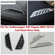 Für Volkswagen VW Tiguan MK2 2016 - 2020 Front Klimaanlage AC Vent Outlet Abdeckung Kit Trim Carbon Faser/matte Zubehör