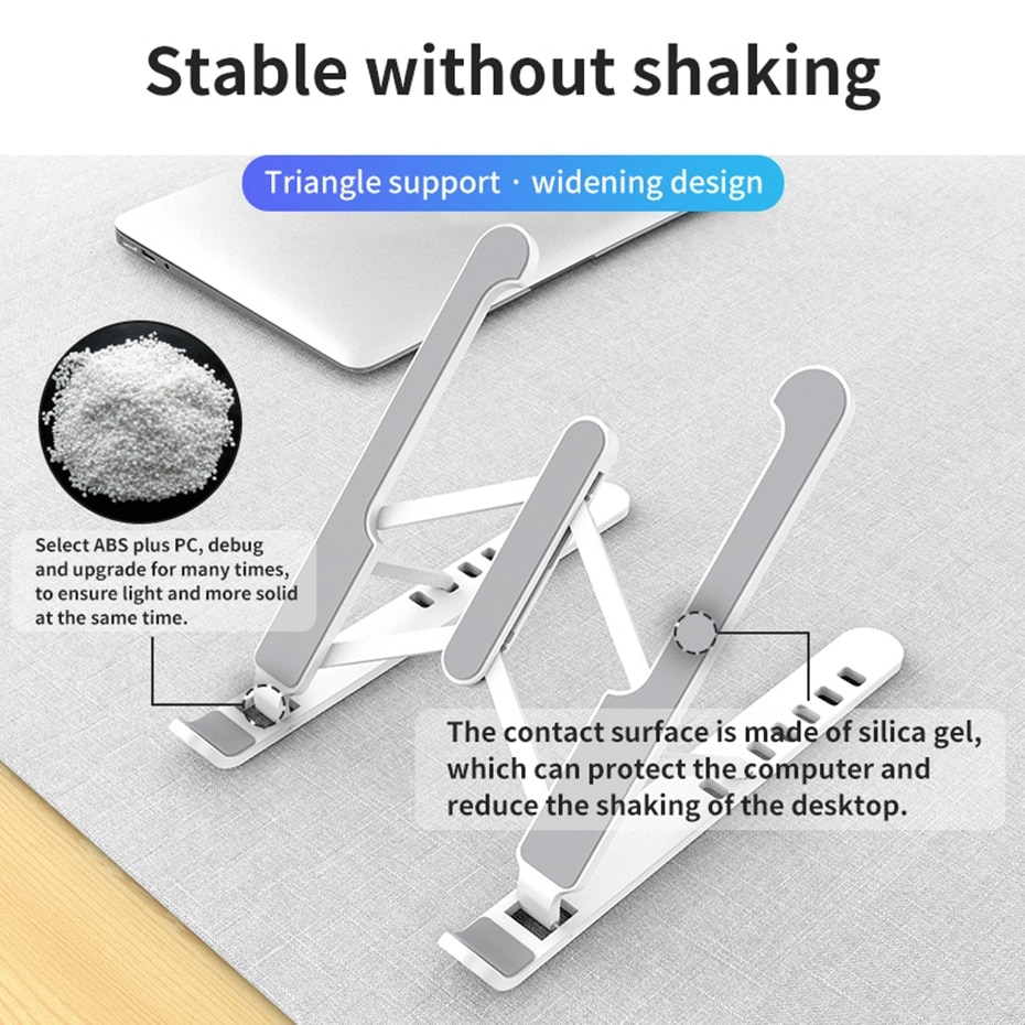 Foldable Desktop Laptop Stand Non-Slip Silicone For Macbook Pro Air 13 14 Holder Notebook Support Cooler  Accessories