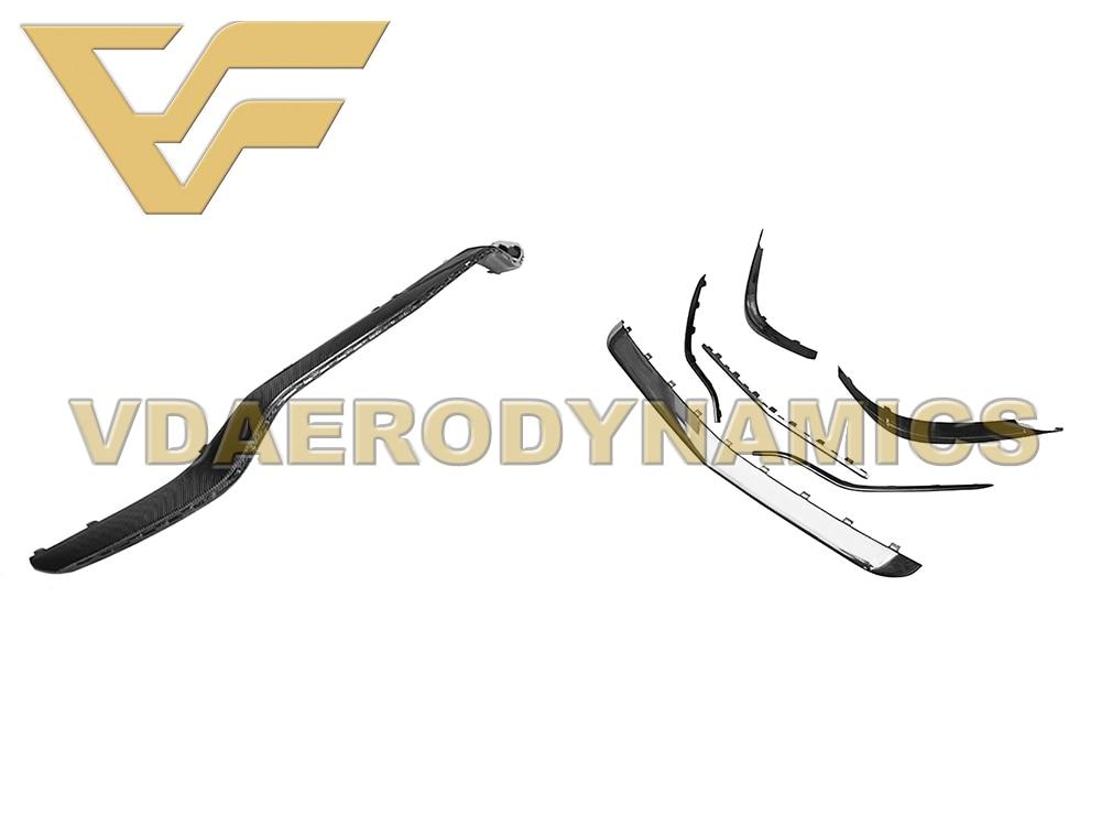 Adecuado para 14-16 Benz Clase S W217 C217 S63 Coupe VAD-OEM labio frontal de fibra de carbono con Canards Splitter parachoques Kit de cuerpo