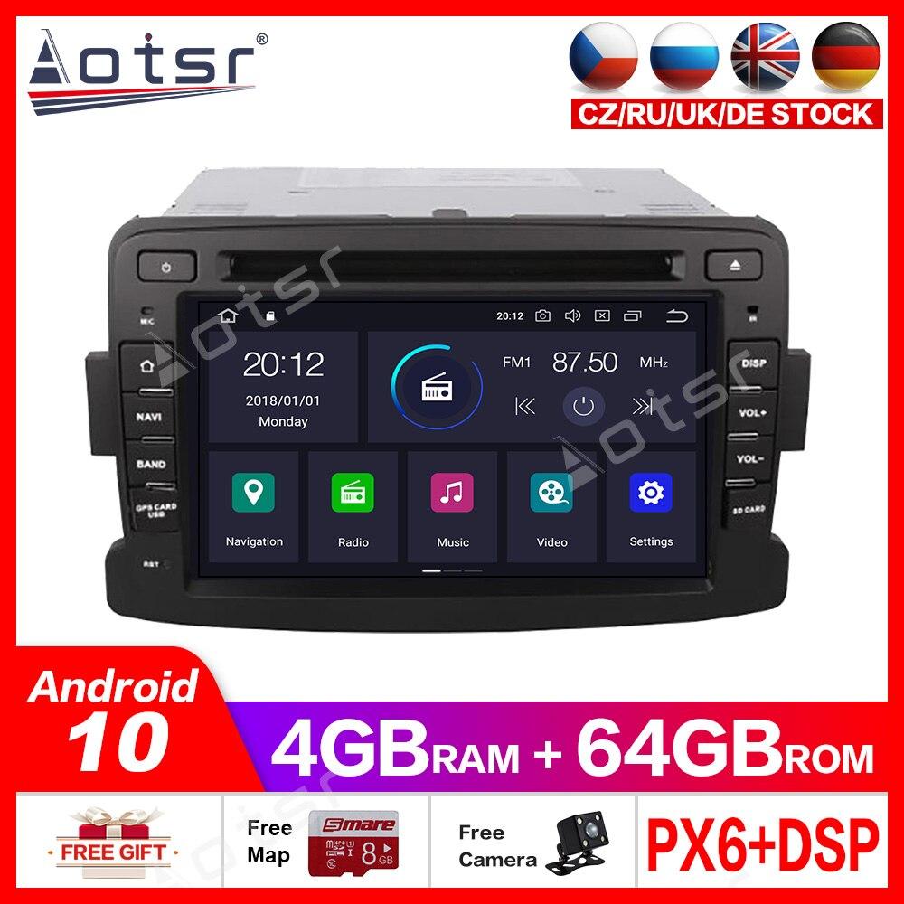 Android10.0 4G + 64GB voiture multimédia lecteur dvd GPS pour Renault Duster 2012 2013 GPS Navigation radio auto stéréohead unité Audio