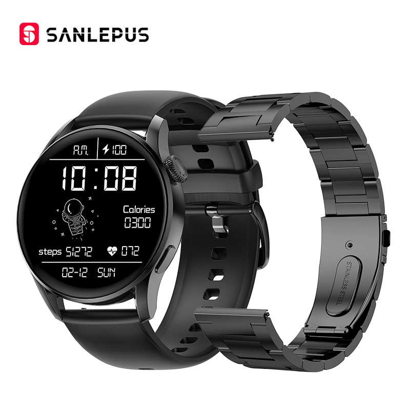 SANLEPUS 2021 جديد لاسلكي شحن ساعة ذكية النساء الرجال Smartwatch اللياقة البدنية سوار IP68 مقاوم للماء أندرويد أبل هواوي