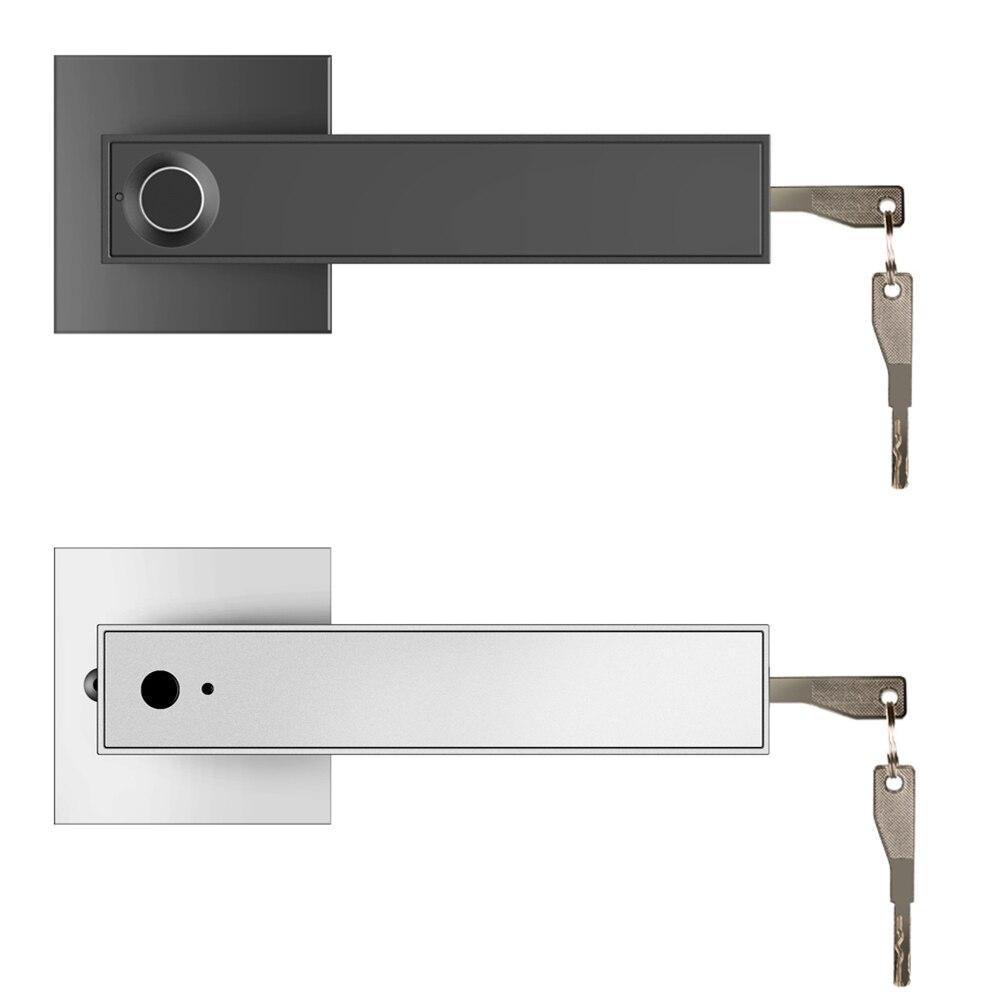 قفل ببصمة الأصبع مكافحة سرقة للمنزل مكتب شقة فندق المرآب مربع قفل ذكي قفل الباب اللاسلكي دعم قفل مقبض