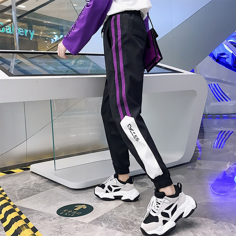 Sports Pants Female Ins Trendy Spring and Autumn Loose Korean Style Ulzzang Versatile Student Slimmi