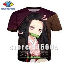 Été Anime hommes femmes Kimetsu No Yaiba homme 3d impression t-shirt mode t-shirt enfants haut Harajuku t-shirt drôle rock t-shirt