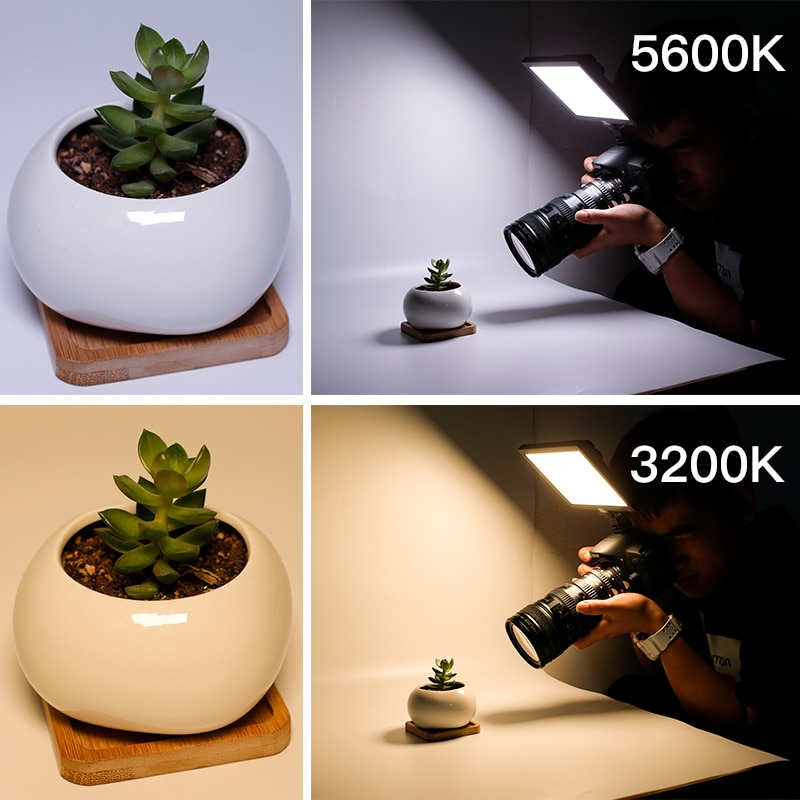 P20 Led Video Light White and Warm Lighting 3200-5600K LED Ultra Bright Dimmable Camera Panel Photography Professional Lamp