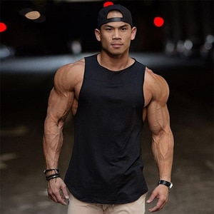 Sleeveless vest exercise short sleeve vest pure cotton elastic casual muscle vest for man