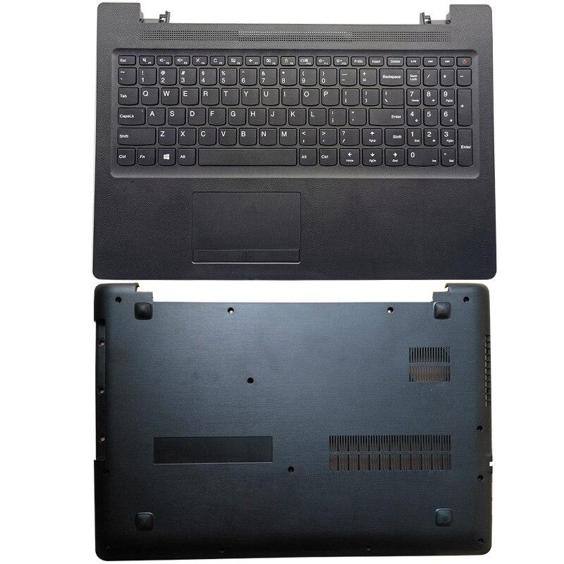 كمبيوتر محمول جديد لينوفو Ideapad 110-15ACL 110-15AST 110-15IBR محمول Palmrest العلوي مع لوحة المفاتيح لوحة اللمس/أسفل أسود