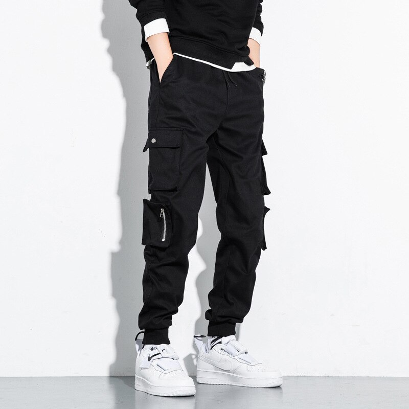 Cargo Pants Men Spring-autumn Super-size Trousers and Ankle-length Trousers Men's Loose Cotton Casual Pants Harajuku Fashion