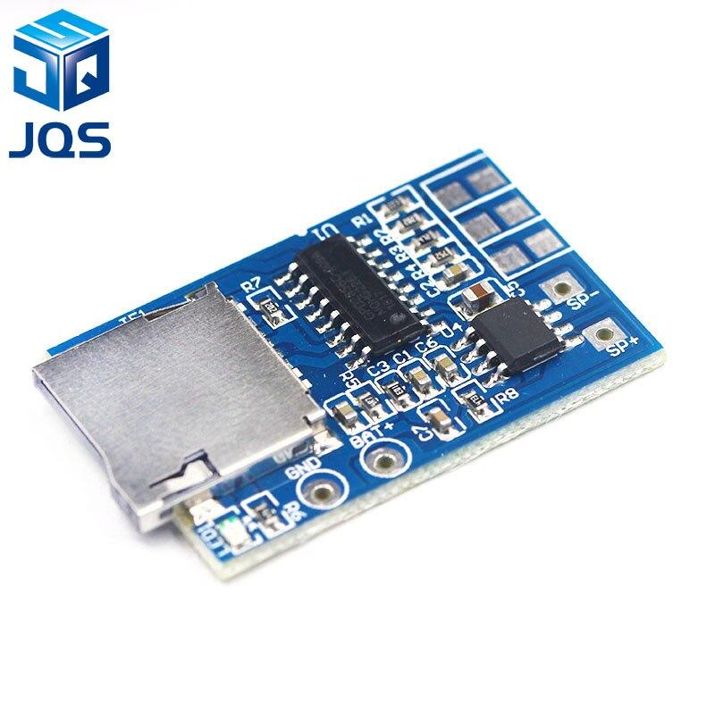 GPD2846A tarjeta TF placa decodificadora de MP3 módulo amplificador de 2W para Arduino GM módulo de fuente de alimentación