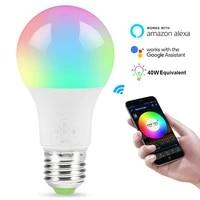 Ampoule intelligente WiFi 4 5W  lampe declairage a LED magique  variable  commande vocale  pour maison connectee  fonctionne avec Alexa Google Home