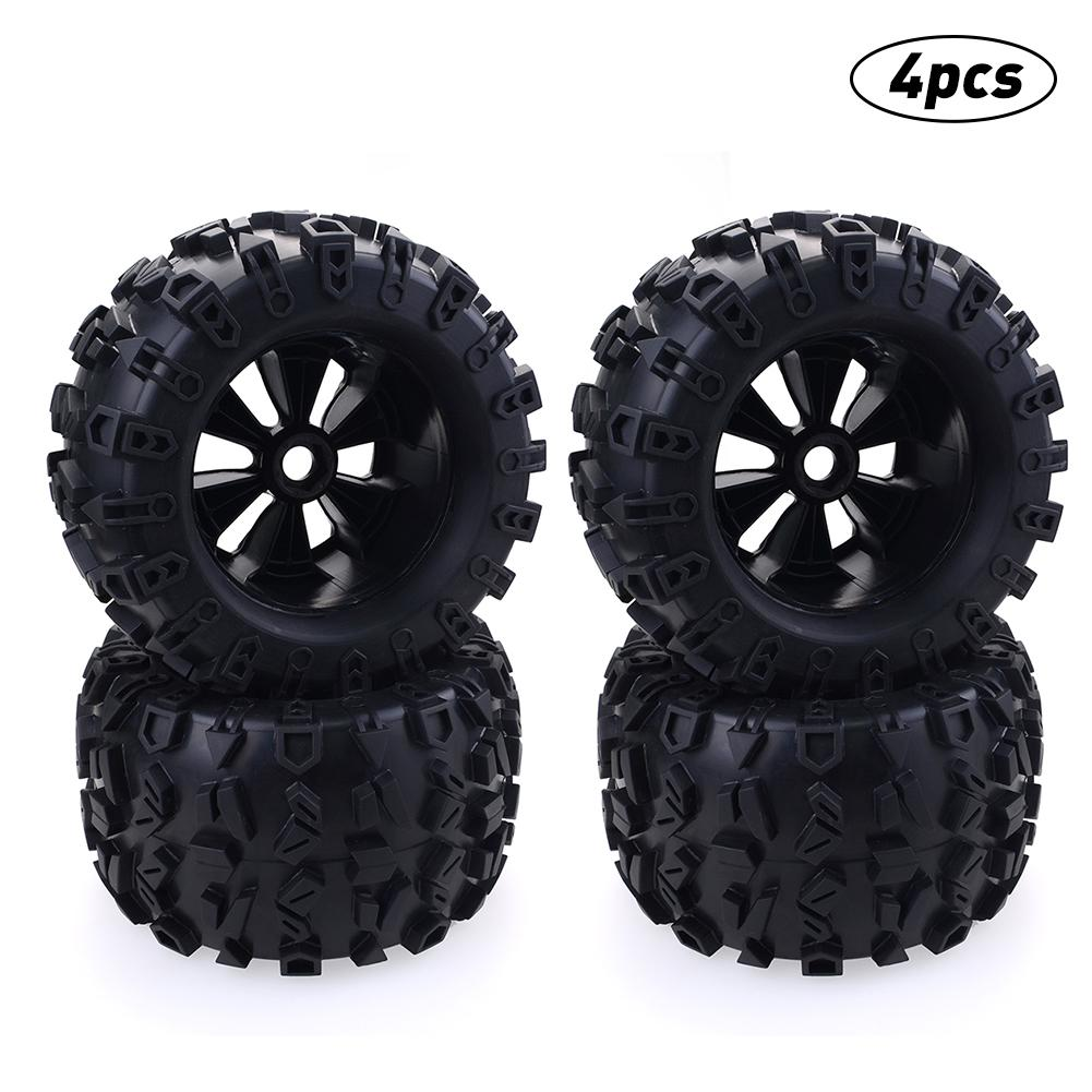 Ruedas de camión monstruo Pie Grande 170mm neumáticos 17mm eje hexagonal para RC 1/8 Redcat HPI HSP Traxxas Axial Himoto actualizar piezas de neumáticos.