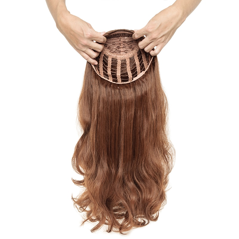 #27 #60 #613 Blonde Human Hair Sheitels Kosher Wig 3/4 Half Wigs Natural Wave Open Weft None Lace Wig Hairpiece for White Women