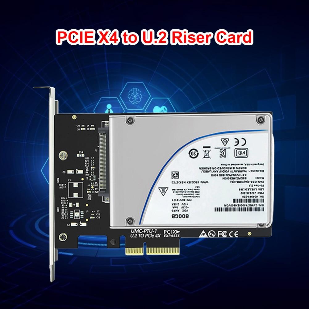 محول بطاقة نقل بطاقة الناهض PCIE X4 إلى الولايات المتحدة 2 بطاقة الناهض PCIE واجهة Gen3 القرص الصلب SSD محول التوسع