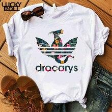 T-Shirt Dracarys femme mère de Dragon hauts Tee-shirt Harajuku khaleesi Camisetas démon Dragon Got femmes vêtements dété